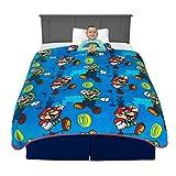 Franco Kids Bedding Super Soft Plush Throw Blanket, 62' x 90', Super Mario,AB0518