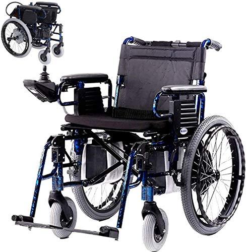 Elektro-Rollstuhl Falten, Vollautomatische elektromagnetische Induktions-Brems Manuell/Elektrische Schaltung 600W Motor Aluminium Rahmen Abnehmbare Lithium-Batterie