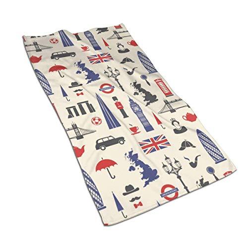 637 Beach Towel Inglaterra Londres Reino Unido Toalla De Baño Secado Rápido Toalla De Piscina 80X130Cm Toallas De Baño Adulto Toalla De Playa Unisex Personalizada Hotel Dura