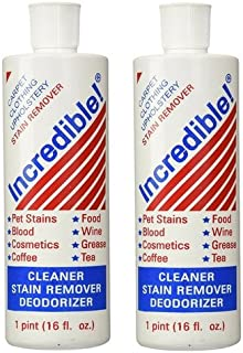 Incredible Inc. Cleaner; Stain Remover; Deodorizer 16 Oz (2 Pack)