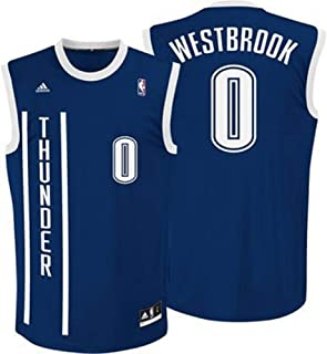 adidas Russell Westbrook Oklahoma Thunders Alternate Navy NBA Toddler Revolution 30 Replica Jersey (Toddler 2T)