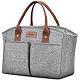Lunch Bags for Women Insulated Thermal Lunch Tote Bag Durable Large Lunch Box Container Drinks Holder for Adults Men...