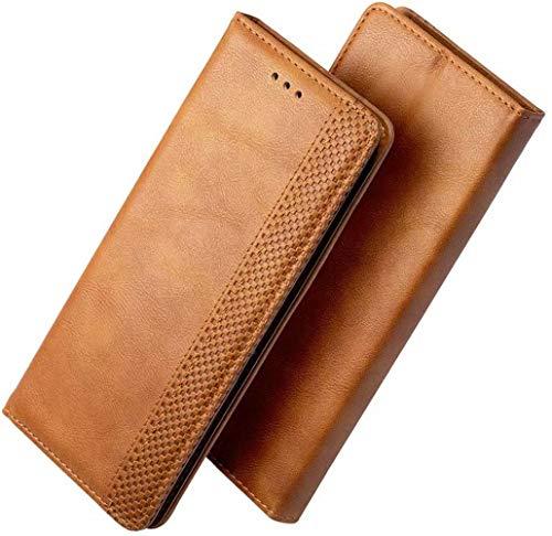 FANFO® Hülle für alcatel 1S 2020/alcatel 1V 2020/alcatel 3L 2020 HandyHülle, Premium PU Leder Tasche Magnetverschlüsse Schutzhülle Flip Wallet Klapphülle Folio Book Style Hülle Cover, Braun