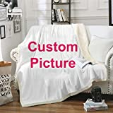 Custom Blankets with Photos Decorative Christmas Throw Blankets Personalized Funny Flannel Blanket for Sofa Couch Bed Covers Quilt
