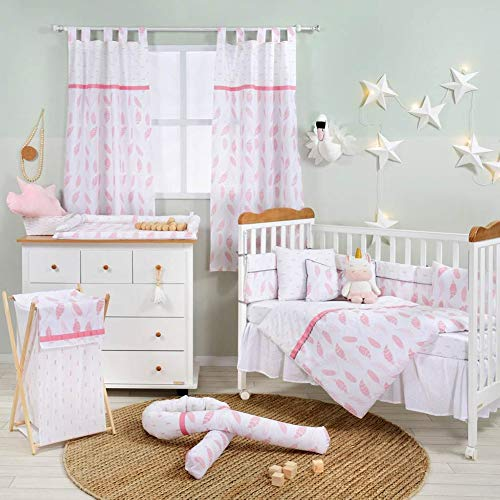 Why Choose Pink Feather Crib Bedding Set (3PC Bedding Set + 1 x Hamper)