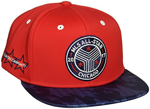 adidas MLS All Star Event Gorra de ala Plana para Hombre, Color Rojo, Talla única
