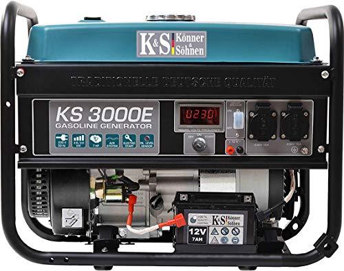 Könner & Söhner KS 3000E - Generador de corriente, 7 CV, motor...