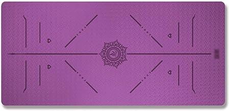 WZHYOGAMAT Position Line Yoga Mat Anti-slip Oefening Mat kan worden uitgebreid voor Camping/Pilates/Stretching/Sit-ups Mul...