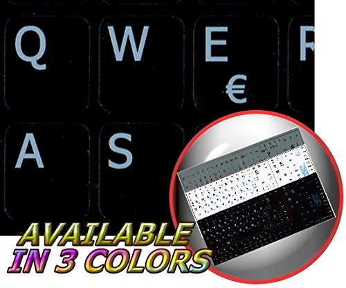Price comparison product image SPANISH NOTEBOOK NON-TRANSPARENT KEYBOARD STICKERS BLACK BACKGROUND