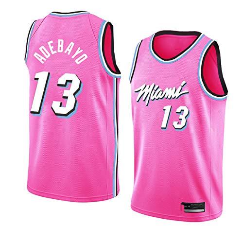 CYYX Jersey de la NBA de los Hombres, Miami Heat # 13 Bam Adebayo CLÁSICO Jersey, Ropa Deportiva, Camiseta sin Mangas Unisex,Rosado,M