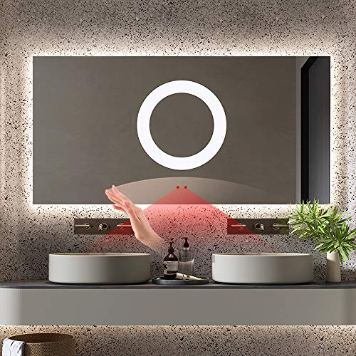 GETPRO Bathroom Mirror with LED Lights for Wall