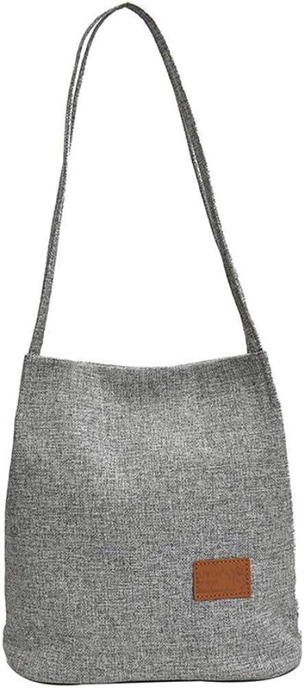 AUSTARK Shoulder Bag for Women Casual Linen Shoulder Purse Tote Handbag for School Work Dating