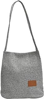 Shopping Shoulder Tote Bag, Austark Casual Hobo Bag Tote Handbag for School Work (Grey)