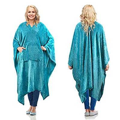 Catalonia Wearable Blanket Poncho for Adult,Super Soft Comfort TV Throw Blanket Robe for Women and Men