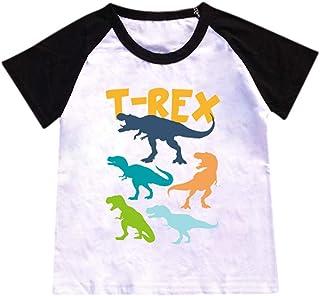 b121db02bb691 Barbare Tops Enfant GarçOn Été Manche Courte Dessin Animé Lettre Impression  T-Shirt Chemise O