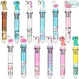 gigitube 12 Stücke Mehrfarbig Stifte, Versenkbare Kugelschreiber, Einhorn Stifte Shuttle Stifte Barrel Kugelschreiber Druck Kugelschreiber