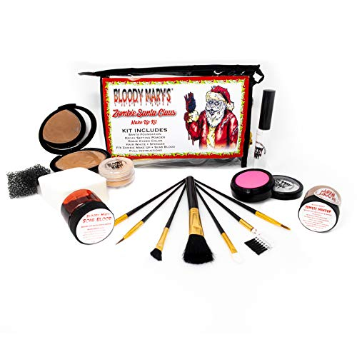 Zombie Santa Claus Makeup Kit Halloween Costume Cosplay Theater Horror Special Effects F/X