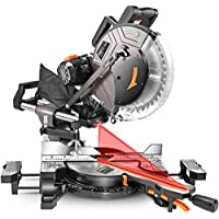 TACKLIFE 15Amp Double-Bevel Sliding Compound Miter Saw with Laser