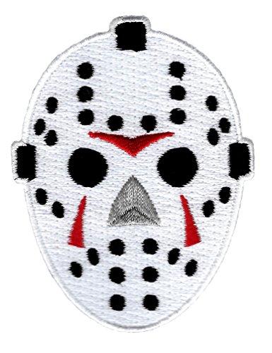 Hockey Goalie Mask Embroidered Patch Iron-On Halloween Horror Emblem