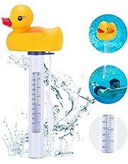 Magicfun Termómetro de Piscina, Termómetro Flotante de Agua Forma de Pato con Pantalla Grande y Cuerda para Interiores Exteriores Piscinas Spas Acuarios
