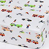 Wildkin Microfiber Fitted Crib Sheet For Infant, Toddler Boys and Girls, Includes One Fitted Crib Sheet Measures 52 x 28 Inches, Fits Standard Crib Mattress, BPA-free, Olive Kids (Heroes)