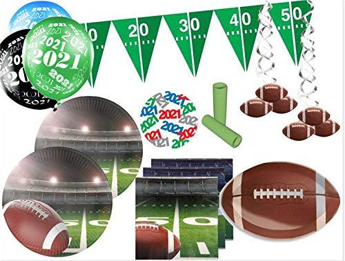 XL 44 Teile American Football Superbowl 2021 Party Deko Set 16 Personen