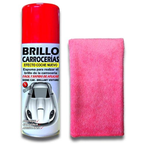 SANMARINO Abrillantador de carrocerías efecto coche nuevo Spray 520 CC. + Bayeta Microfibra