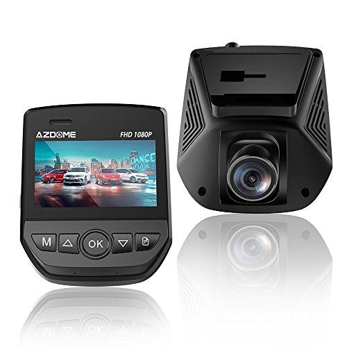 AZDOME Dashcam WiFi Autokamera 1080P mit 170° Weitwinkelobjektiv, WDR Super Nachtsicht, Loop-Aufnahme, G-Sensor, Bewegungsmelder und Parkmonitor KFZ Kamera Auto Dashcam (A305)
