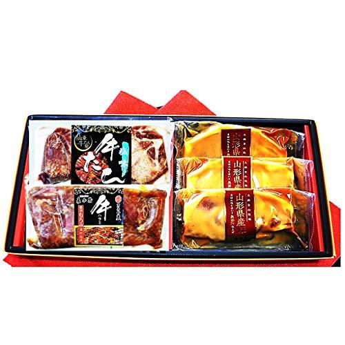 【父の日限定予約】仙台発祥牛タン・山形豚ロース赤ワイン味噌漬3種5Pギフト