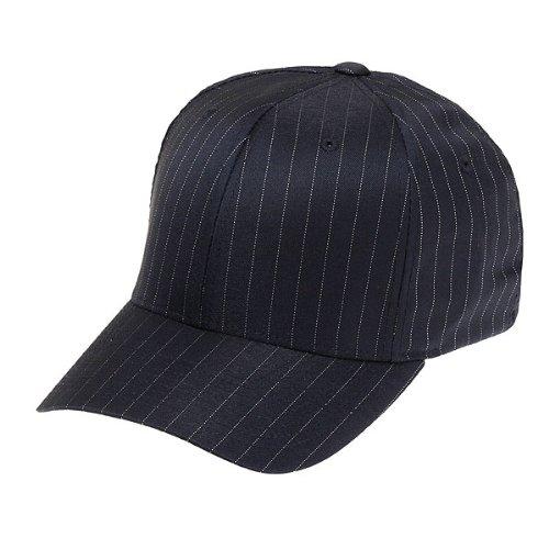 Flexfit Cap Pinstripe Black White - L-XL