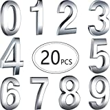 20 Pieces Self-Adhesive Door House Numbers Mailbox Numbers Street Address Numbers for Mailbox Signs, 0 to 9 (Bronze, 2.76 inch)