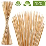 NadaKin 120 PCS Bamboo Marshmallow Roasting Sticks with 30 Inch 5mm Thick Extra Long Heavy Duty Wooden Skewers,Roaster Barbecue S'Mores Skewers Hot Dog Forks for Camping,Party,Kebab Sausage