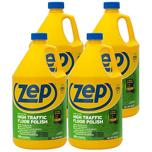 Zep High Traffic Floor Polish 128 Ounce ZUHTFF128 (Case of 4) Pro Formula, Long Lasting Shine