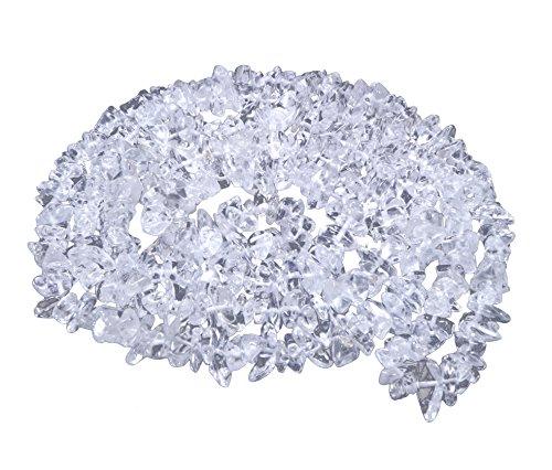 Lebensquelle Plus Bergkristall Splitterkette | endlos ohne Verschluss | 90 cm lang | Hochwertige Edelstein Kette