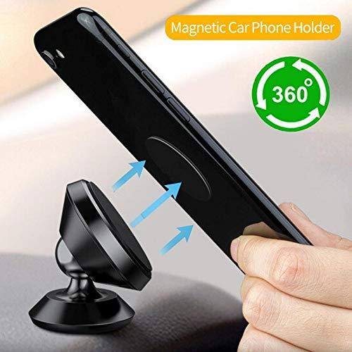 TRUE LINE Automotive Car Magnet Phone Dashboard Mounted Holder 360 Degree Mounting Kit (Black)