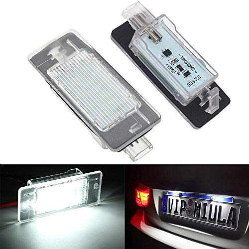 AWQC Luces de matrícula de Coche Compatible con Opel Vectra C Placa 2002-2008 LED Licencia Número de Lámpara Lámpara Lámpara Free Universal
