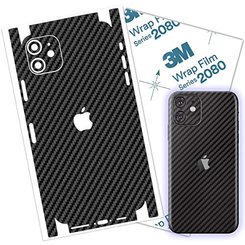 Carbon Fiber 3M Film Compatible with iPhone 11 Skin Wrap Protective Around Borders and Back Thin 3D Skin (iPhone 11) (Carbon Fiber)