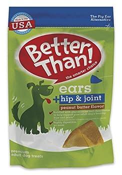 Better Than Ears Premium Dog Treats Hip & Joint Peanut Butter Flavor 36 Count Pouch