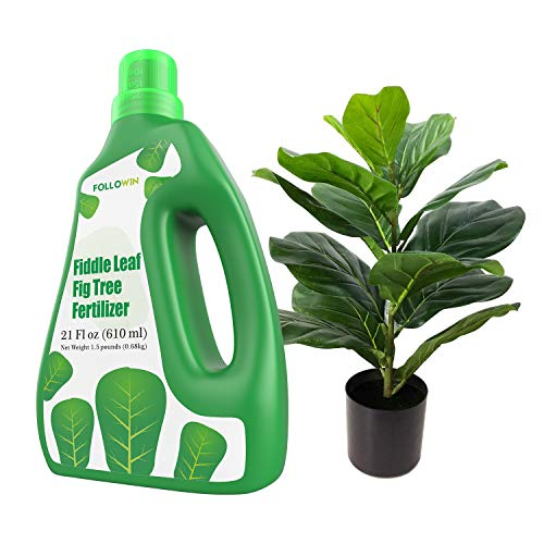 FOLLOWIN Fiddle Leaf Fig Tree Fertilizer (21 Ounces) Urea-Free Liquid Ficus Indoor Plant Food with NPK Ration of 3-1-2 for Healthy Roots, Stems and Leaves