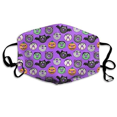Vampire Bat Donuts Halloween Paars fijnstofmasker stofbestendig multifunctionele maskers
