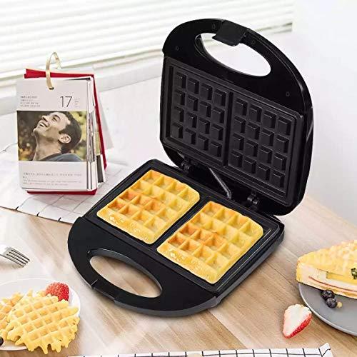Liks Máquina para Hacer sándwiches de gofres eléctricos Platos Recubiertos antiadherentes duales Máquina Multifuncional para el Desayuno en el hogar Mini Horno para Pasteles Sartén para Huevos
