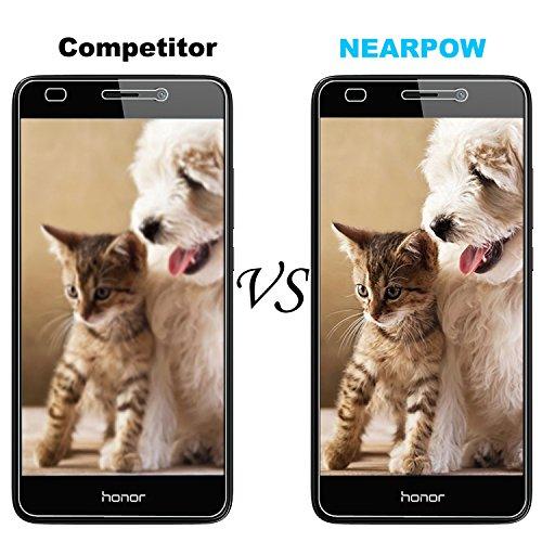 NEARPOW [3 Stück] Huawei Honor 5C Panzerglas Displayschutzfolie, Schutzfolie 9H Härte, Anti-Kratzen, Anti-Öl, Anti-Bläschen, Anti-Fingerabdruck - 6