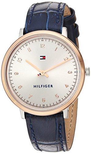 Tommy Hilfiger Damen Analog Quarz Uhr mit Leder Armband 1781764