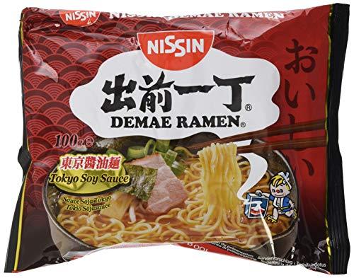 Nissin Demae Ramen – Tokyo Soy Sauce, 10er Pack, Instant-Nudeln japanischer Art, mit Sojasoße & asiatischen Gewürzen, schnell & einfach zubereitet, asiatisches Essen (10 x 100 g)
