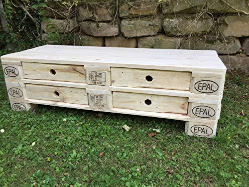 """Palettenmöbel Sideboard Kommode """"Brescia"""" aus Paletten Natur mit Schubladen"""