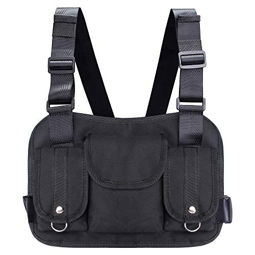 VOCUS Fashion Chest Front Bag Pouch Multipurpose Sport Backpack Daypack Nylon Tactical Chest Rig for Men Women