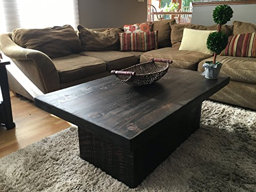 """Reclaimed Urban Wooden Coffee Table - Made From Salvaged Barn Wood - Fast Shipping - 48""""L x 30""""W x 18""""H 2.5 inch thick wood 