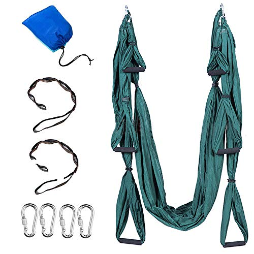 Aerial Yoga Swing Aerial Yoga Silk Aerial Yoga Hammock Ultra Strong Antigravity Decompression Hammock Inversion Trapeze Sling Exercises Equipment - Two Extender Hanging Straps with a Carrying Bag from GaoruiE-commerceCo.,Ltd