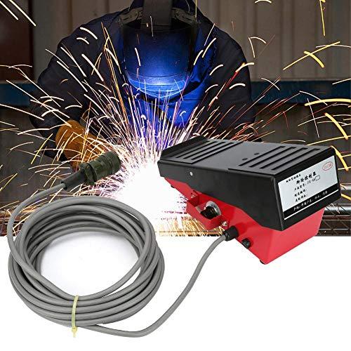Interruptor de Pie, Conector de 14 Pines Cable de 7.2m Controlador de Pedal Alta Sensibilidad Controlador de Pedal Inducción Magnética Interruptor Encendido del Pedal Control de Pie para Soldador TIG