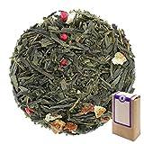 Núm. 1397: Té verde orgánico 'Magic Spring (primavera mágica)' - hojas sueltas ecológico - 100 g - GAIWAN® GERMANY - sencha verde de China, pimiento rojo, fresas, limón, naranja